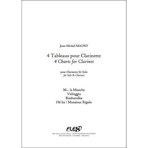 FLEX EDITIONS MAURY J.-M. - 4 CHARTS FOR CLARINET - SOLO CLARINET