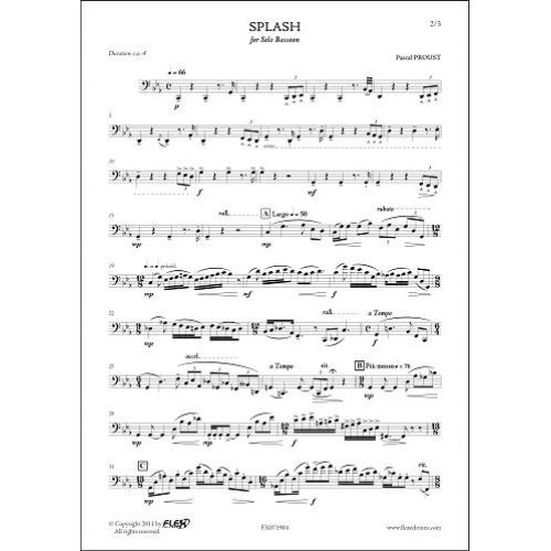 FLEX EDITIONS PROUST P. - SPLASH - SOLO BASSOON