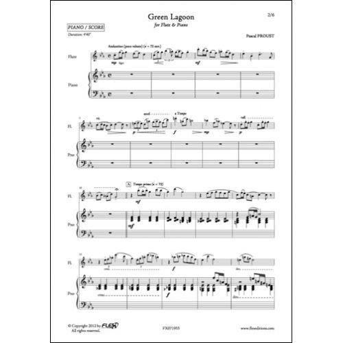 FLEX EDITIONS PROUST P. - GREEN LAGOON - FLUTE ET PIANO