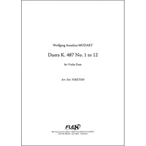FLEX EDITIONS MOZART W. A. - DUET K 487 - VIOLIN DUET