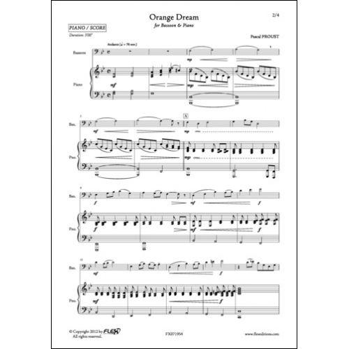 FLEX EDITIONS PROUST P. - ORANGE DREAM - BASSOON AND PIANO