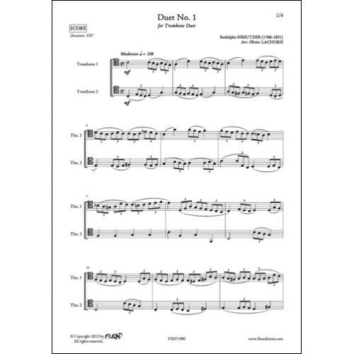 FLEX EDITIONS KREUTZER R. - DUET NO. 1 - TROMBONE DUET