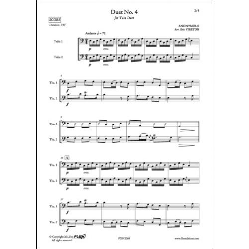 FLEX EDITIONS ANONYMOUS - DUET NO. 4 - TUBA DUET