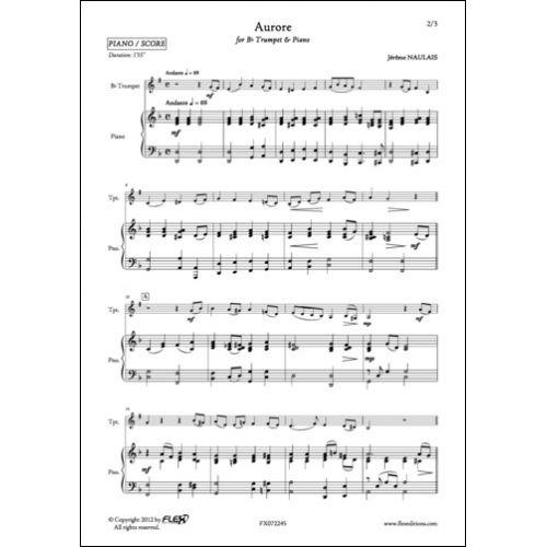 FLEX EDITIONS NAULAIS J. - AURORE - TRUMPET AND PIANO