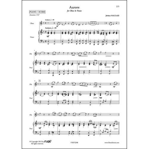 FLEX EDITIONS NAULAIS J. - AURORE - OBOE AND PIANO