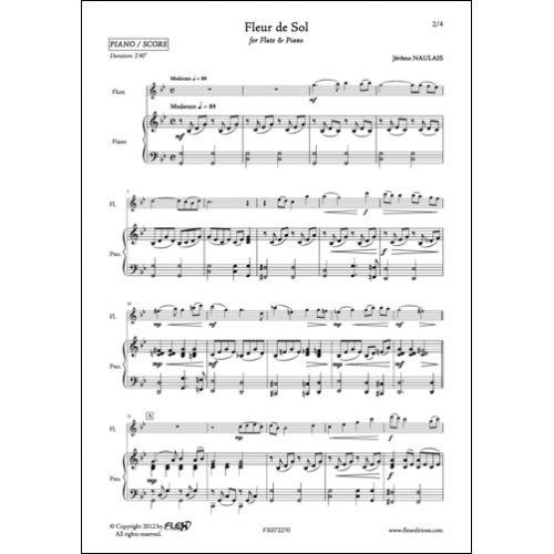 FLEX EDITIONS NAULAIS J. - FLEUR DE SOL - FLUTE ET PIANO