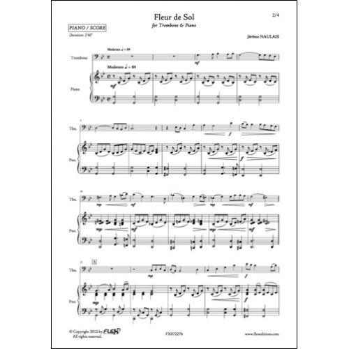 FLEX EDITIONS NAULAIS J. - FLEUR DE SOL - TROMBONE AND PIANO