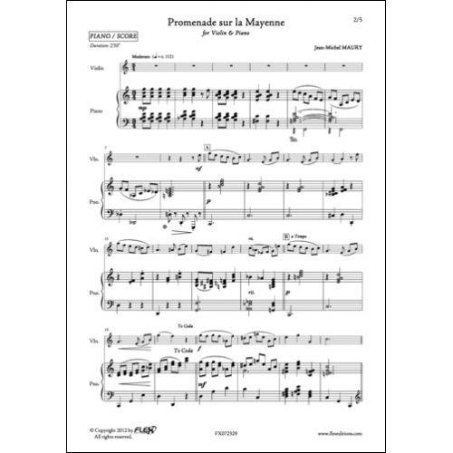 FLEX EDITIONS MAURY J.-M. - PROMENADE SUR LA MAYENNE - VIOLIN AND PIANO
