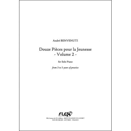 FLEX EDITIONS BENVENUTI A. - 12 PIECES POUR LA JEUNESSE - VOLUME 2 - SOLO PIANO