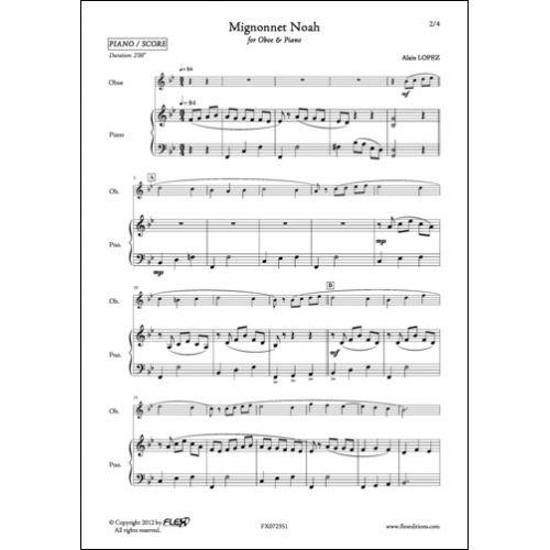 FLEX EDITIONS LOPEZ A. - MIGNONNET NOAH - OBOE AND PIANO
