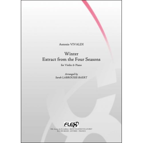 FLEX EDITIONS VIVALDI A. - WINTER - EXTRACT FROM THE FOUR SEASONS - VIOLIN AND PIANO