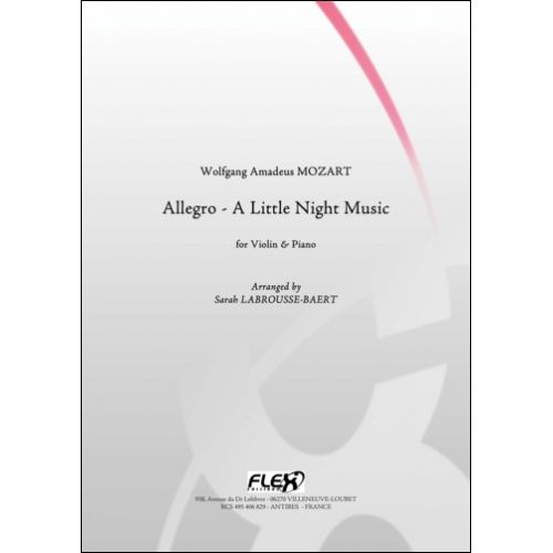 FLEX EDITIONS MOZART W. A. - ALLEGRO - LITTLE NIGHT MUSIC - VIOLIN AND PIANO