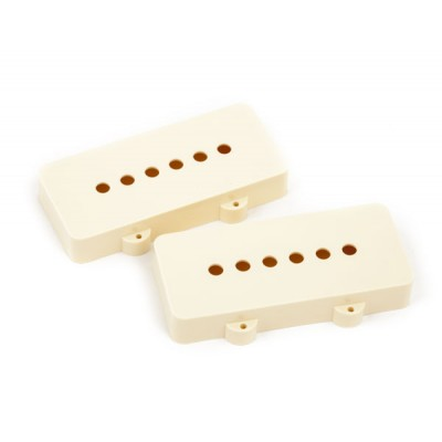 FENDER PICKUP COVERS JAZZMASTER AGED WHITE (2)