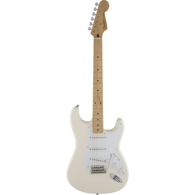 FENDER STRATOCASTER MEXICAN ARTIST SIGNATURE JIMMIE VAUGHAN TEXMEX OLYMPIC WHITE