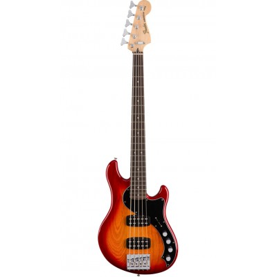 FENDER MEXICAN DELUXE DIMENSION BASS V RW AGED CHERRY BURST