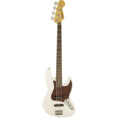 SQUIER BY FENDER JAZZ BASS OLYMPIC WHITE VINTAGE MODIFIED