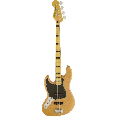 SQUIER BY FENDER LINKSHAENDER JAZZ BASS 70S NATURAL VINTAGE MODIFIED