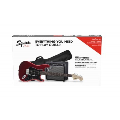 SQUIER BY FENDER AFFINITY SERIES STRATOCASTER HSS PACK LRL CANDY APPLE RED GIG BAG 15G - 230V EU