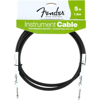 FENDER PERFORMANCE SERIES INSTRUMENT CABLE 5' BLACK
