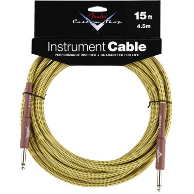 FENDER 4,5M CUSTOM SHOP INSTRUMENT CABLE 15' TWEED