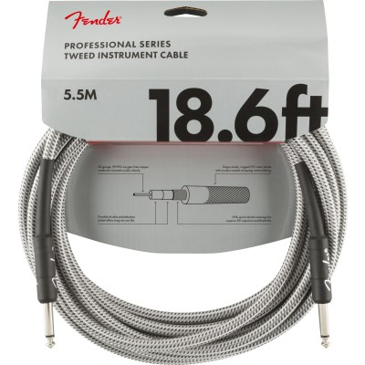 FENDER PROFESSIONAL SERIES INSTRUMENT CABLE 18.6' WHITE TWEED
