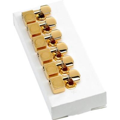 FENDER AMERICAN STANDARD SERIES STRATOCASTER/TELECASTER TUNING MACHINES GOLD (JEU DE 6 CORDES)
