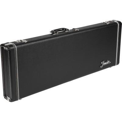 FENDER G&G DELUXE STRAT/TELE HARDSHELL CASE BLACK WITH ORANGE PLUSH INTERIOR AMP LOGO