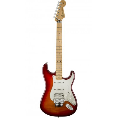 FENDER STRATOCASTER MEXICAN STANDARD HSS PLUS TOP W/ LOCKING TREMOLO AGED CHERRY BURST