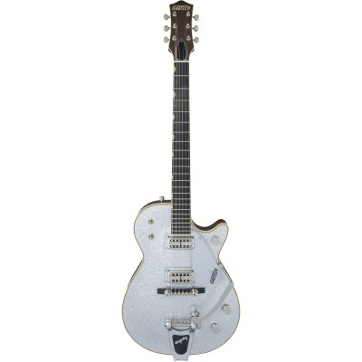 GRETSCH GUITARS G6129T-59 VINTAGE SELECT '59 SILVER JET BIGSBY TV JONES SILVER SPARKLE