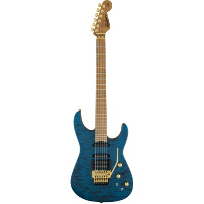 JACKSON GUITARS USA SIGNATURE PHIL COLLEN PC1 SATIN TRANS BLUE