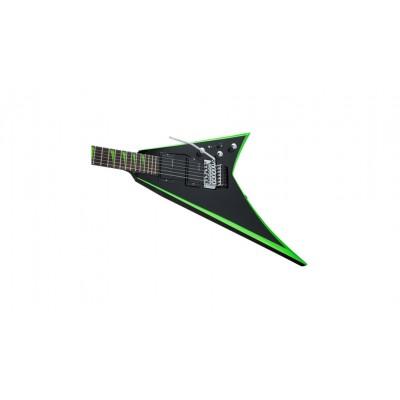 JACKSON GUITARS X SERIES RHOADS RRX24 RW BLACK WITH NEON GREEN BEVELS