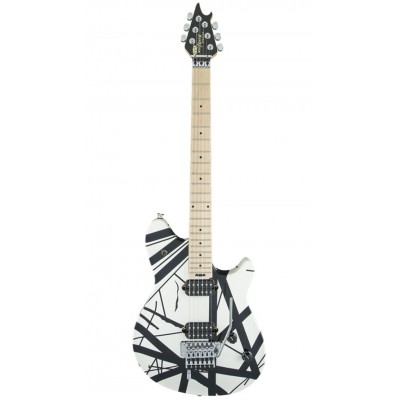 EVH EVH WOLFGANG SPECIAL MAPLE FINGERBOARD BLACK AND WHITE STRIPES