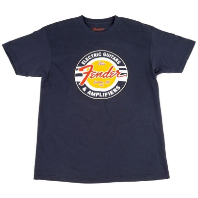 FENDER GUITARS AND AMPS LOGO T-SHIRT NAVY S