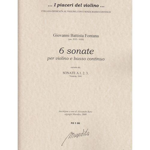 MUSEDITA FONTANA G.B. - SONATE A 1, 2, 3 - VIOLON ET BC