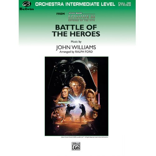 ALFRED PUBLISHING WILLIAMS JOHN - BATTLE OF THE HEROES - FLEXIBLE ORCHESTRA