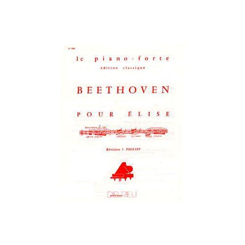 EDITION DELRIEU BEETHOVEN LUDWIG VAN - LETTRE A ELISE - PIANO