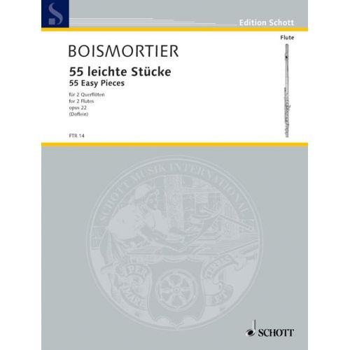SCHOTT BOISMORTIER J.B DE - 55 EASY PIECES OP. 22 - 2 FLUTES