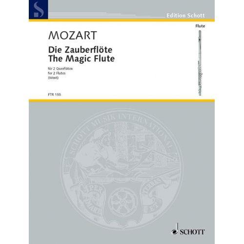 SCHOTT MOZART W.A. - THE MAGIC FLUTE - 2 FLUTES