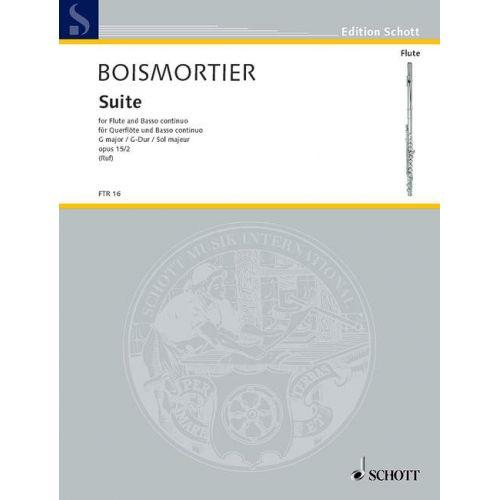 SCHOTT BOISMORTIER J.B. DE - SUITE G MAJOR OP 35/2 - FLUTE AND BASSO CONTINUO