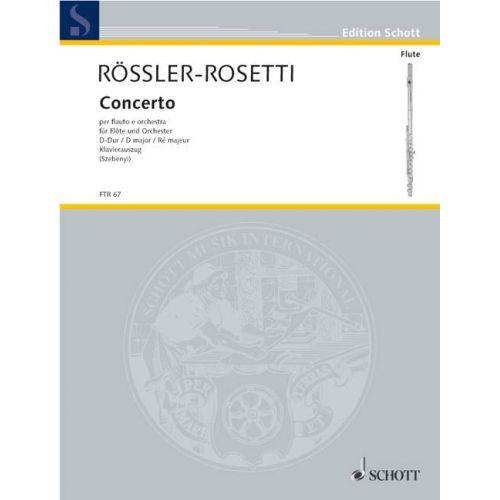 SCHOTT ROSETTI (RÖSLER) ANTONIO - CONCERTO D MAJOR MURRAY C17 - FLUTE AND ORCHESTRA