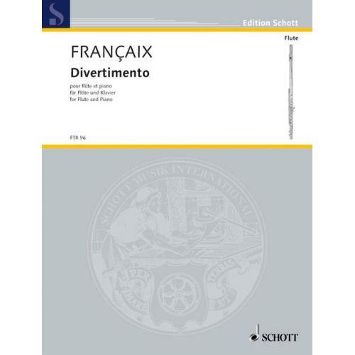 SCHOTT FRANÇAIX JEAN - DIVERTIMENTO - FLUTE AND PIANO