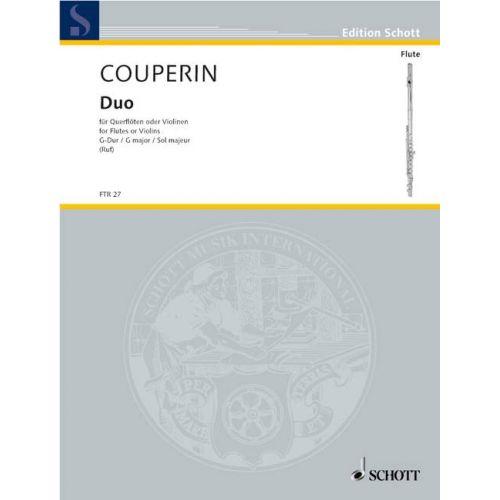 SCHOTT COUPERIN FRANÇOIS - DUO G MAJOR - 2 FLUTES (VIOLINS)