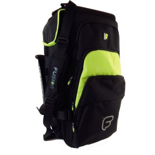 FUSION BAGS TASCHE TRIPLE TROMPETTE BLACK/GREEN LIME PB-06-L