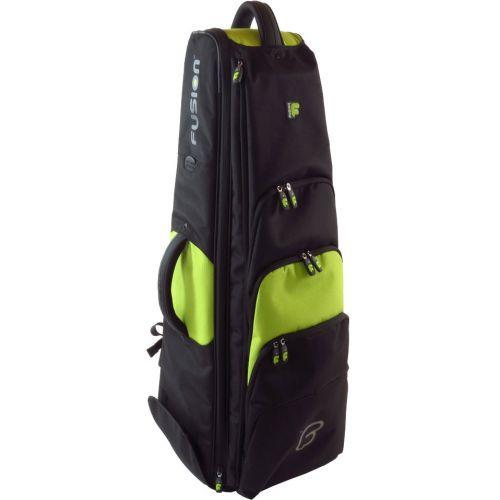 FUSION BAGS TASCHE TROMBONE BASSE 10'5 BLACK/GREEN LIME PB-16-L