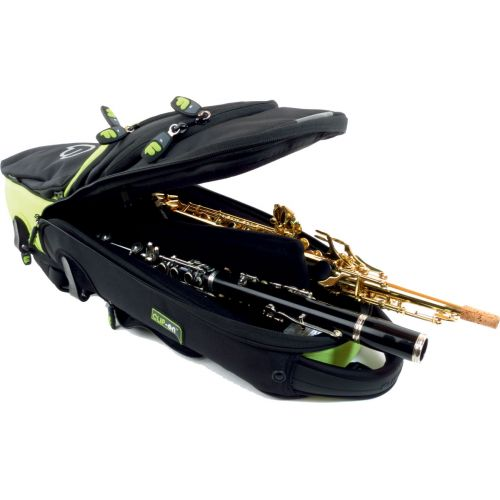 FUSION BAGS BAG FOR SOPRANO CLARINETTE FLUTE BLACK/GREEN LIME PW-03-L