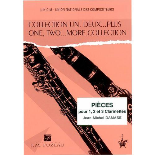 ANNE FUZEAU PRODUCTIONS DAMASE J.M. - PIECES POUR 1, 2 OU 3 CLARINETTES