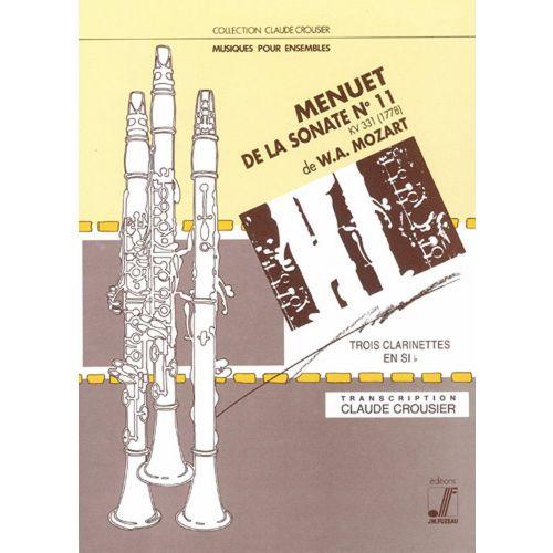 ANNE FUZEAU PRODUCTIONS MOZART W.A. - MENUET DE LA SONATE N°11 - TRIO CLARINETTES