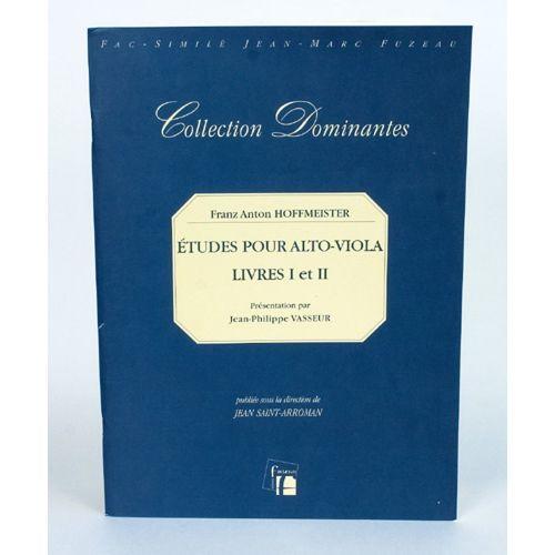 ANNE FUZEAU PRODUCTIONS HOFFMEISTER F.A. - ETUDES POUR ALTO LIVRES I & II LEIPZIG
