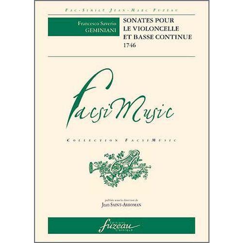 ANNE FUZEAU PRODUCTIONS GEMINIANI F.S. - SONATES POUR LE VIOLONCELLE ET BASSE CONTINUE, PARIS, MADAME BOIVIN, LE CLERC - 174