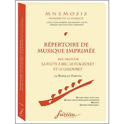 ANNE FUZEAU PRODUCTIONS PORTELL P. - MNEMOSIS - REPERTOIRE DE MUSIQUE IMPRIMEE (1670-1780)